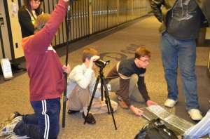 In the Seminar in Film Literature class students make independent films.