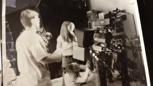 Circa 2001, Matt, Lisa, and Michelle in the PNN Stiudio. Michelle is working on a teleprompter, Matt is directing, and Lisa is enjoying some backlight.