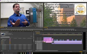 For this training film, I worked with students to shoot video in a closet, capture good audio, and publish a film to help custodial staff at P.H.M.
