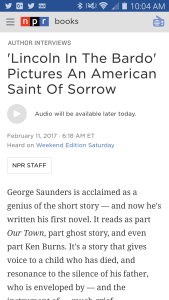 Click to go to NPR.org to catch Scott Simon's interview with George Saunders.